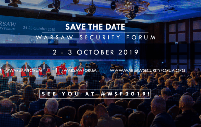 SAVE THE DATE: Warsaw Security Forum on 2nd – 3rd of October 2019