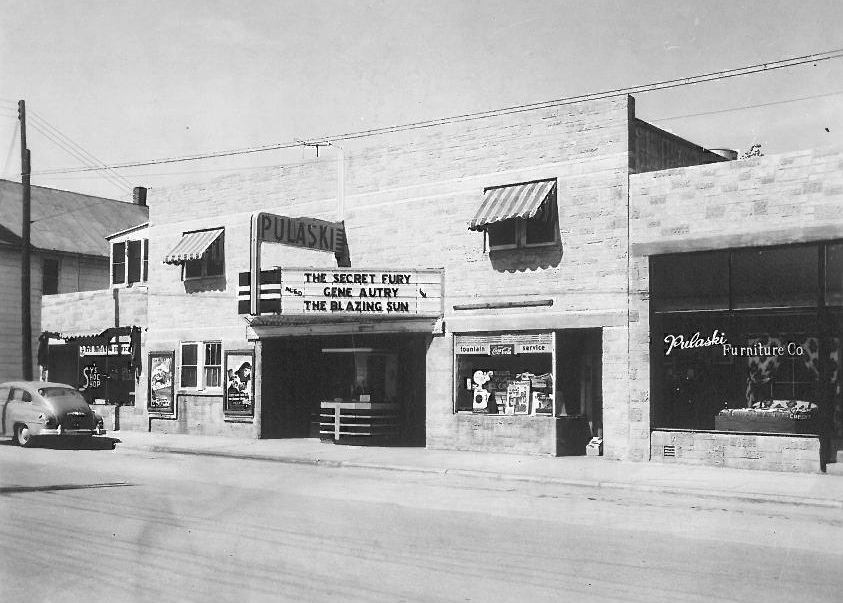 This building still stands today, form Pulaski Movie Theater