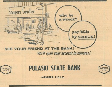 Pulaski State Bank Ad