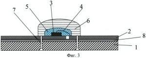 светодиодный chip-on-board модуль с первичной оптикой