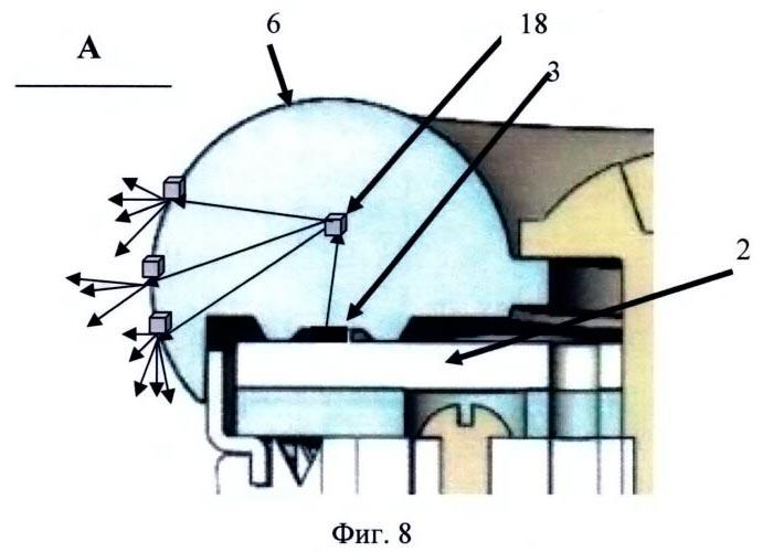 трассировка световых лучей для диффузно-рассеивающего материала линзы