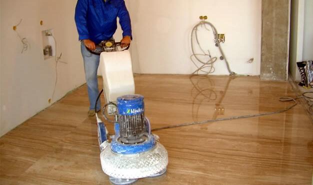 desbastado y pulido de piso de marmol cdmx