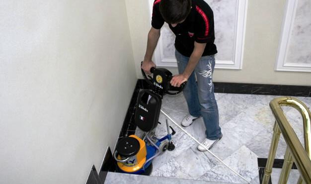 servicio de pulido y abrillantado de escaleras de marmol
