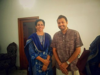 With Dr. Chithra Madhavan
