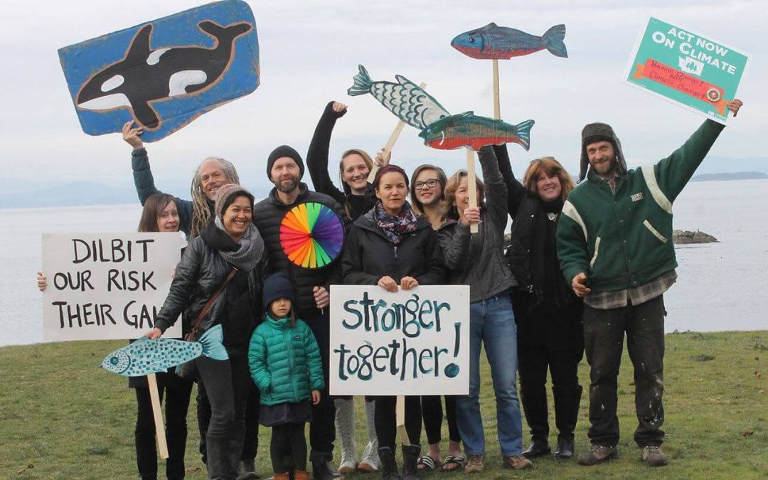San Juan Islanders protest Kinder Morgan on MLK Day