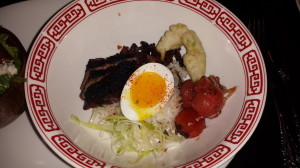 "Clever Koi's Steak ""Cobb"" Bibimbap"