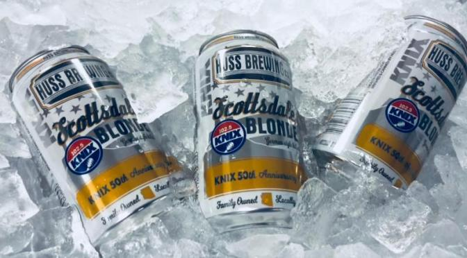 Country music station KNIX honored with new Huss Brewing Co. cans