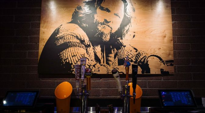 The Bar opens in Arcadia with The Dude watching over