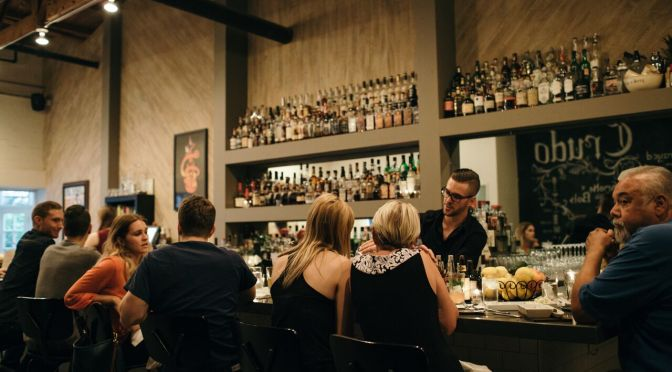 Not your typical happy hour at Bar Crudo