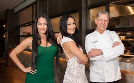 Brie and Nikki Bella pair their wines at Hearth '61 cuisine