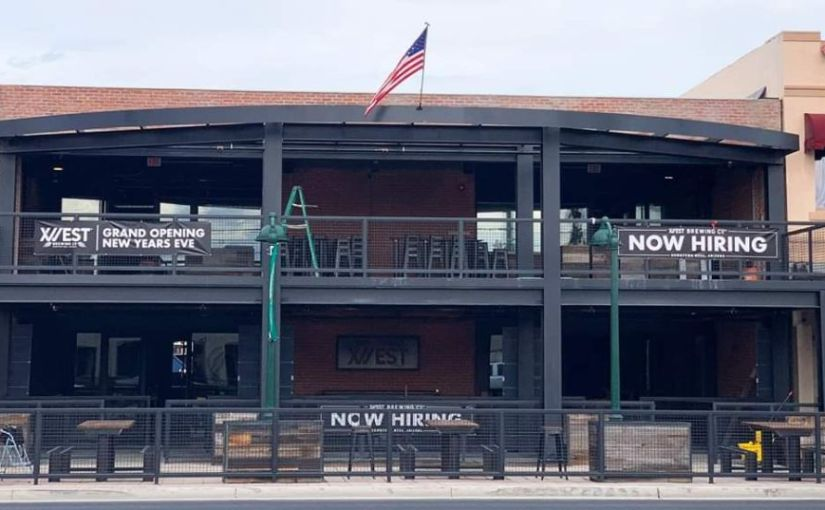Gilbert's 12 West Brewing will ring in 2020 in style when it opens its new taproom on New Year's Eve. Finding 12 West Main Street should be easy as it's the name and address of the taproom in downtown Mesa....