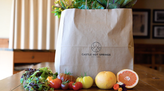 Farm fresh produce available from Castle Hot Springs