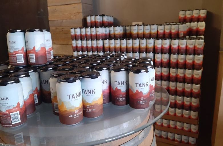 Canned wines Tank available from Aridus Wine Company