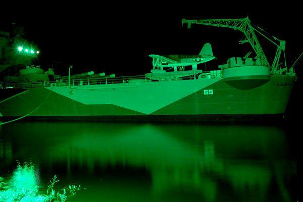Battleship North Carolina becomes Ghost Ship