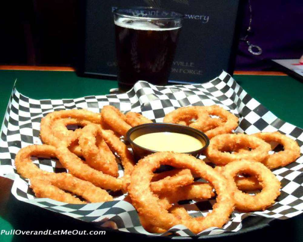 Onion Rings with Kick-back sauce is a favorite appetizer.