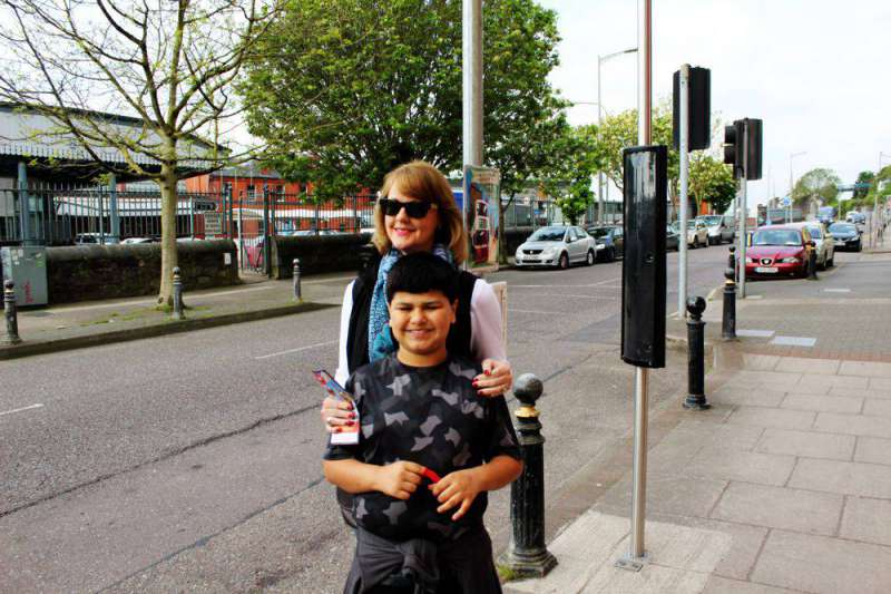 Mom and Connor in Cork