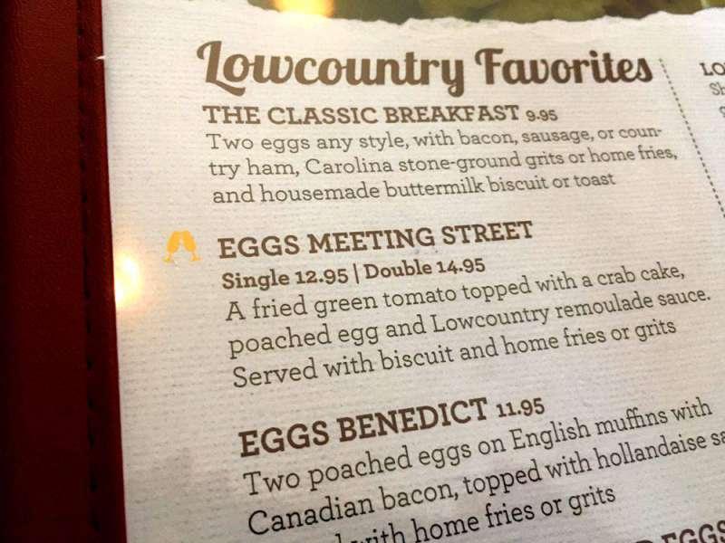 Eggs on the menu
