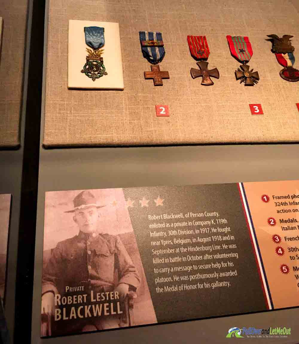Medal of Honor recipient Blackwell NC Museum of History PullOverandLetMeOut