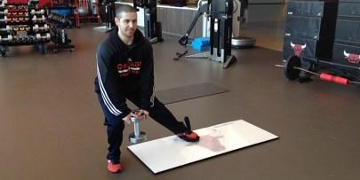 ultraslide slide board einbeinig pullsh