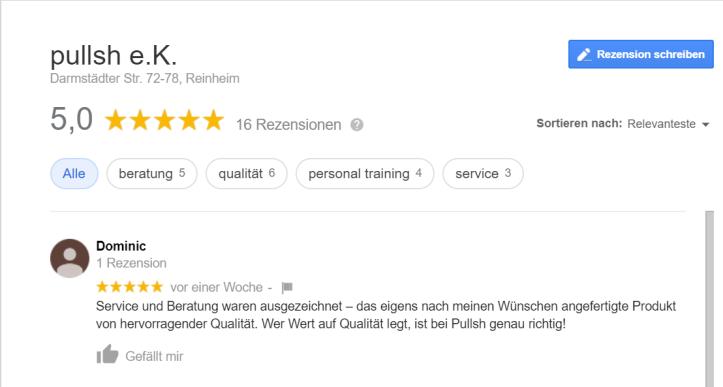 dominic feedback google pullsh