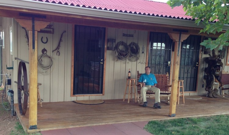 Front porch of the  Bunk House
