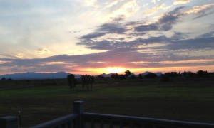 Sunrise at Xanadu Ranch