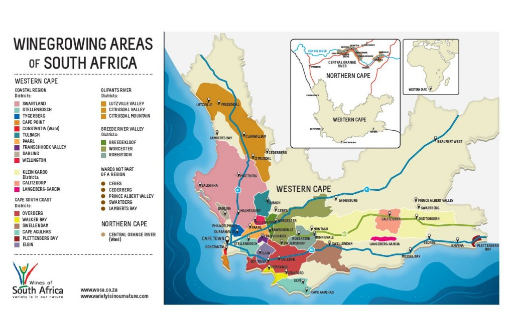 south africa wine region map A Selection Of White Wines From South Africa Pull That Cork south africa wine region map