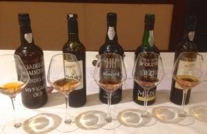 Madeira wine tasting
