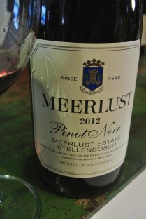 2012 Meerlust Pinot Noir