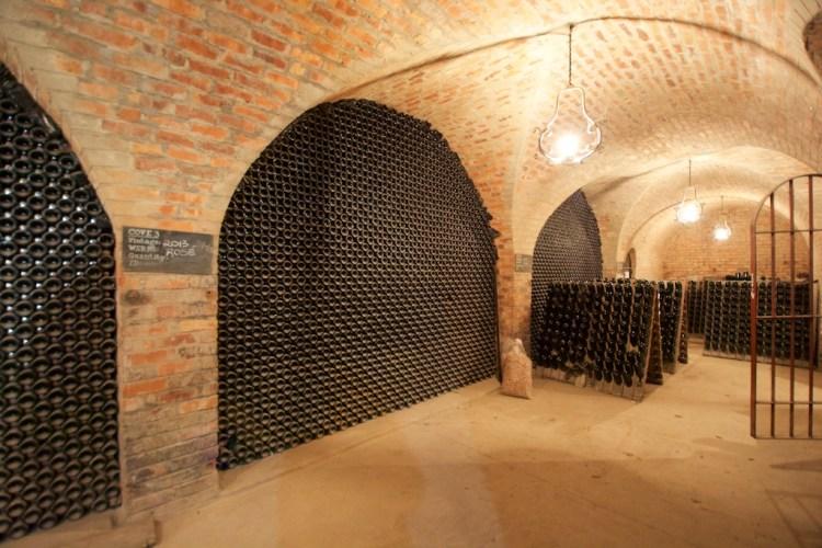 Sparkling wine cellar