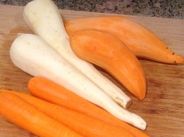 carrots, parsnips and ruby yams