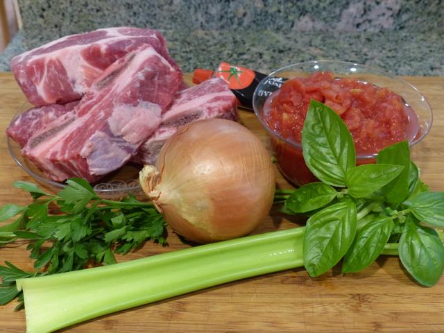 Ingredients for ragu