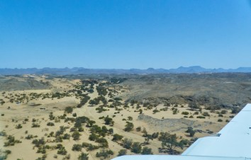 Dry riverbed from the air