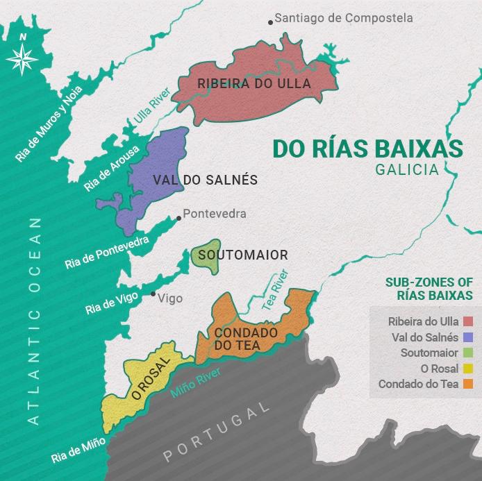 Map Rias Baixas