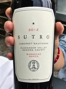 2012 Sutro Wine Cabernet Sauvignon