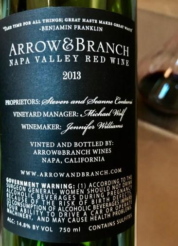 Back label red wine