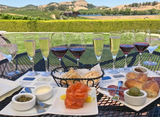 Food and Wine at Domaine Carneros