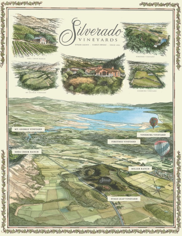 Silverado Vineyards Map