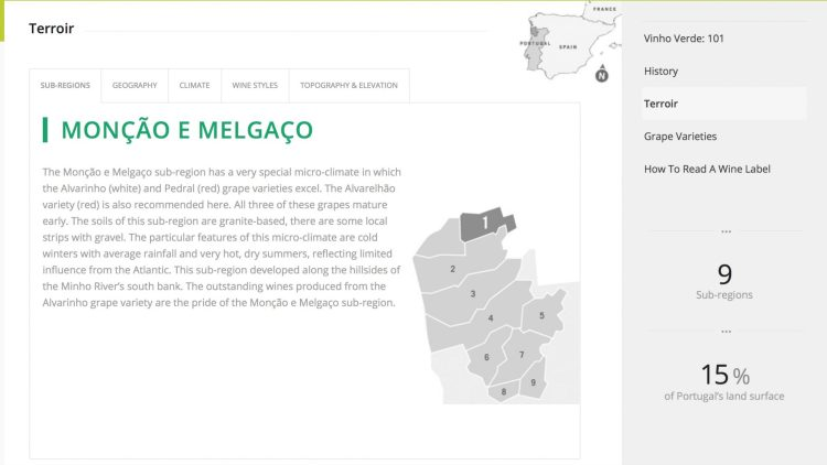 Vinho Verde Sub Regions Map