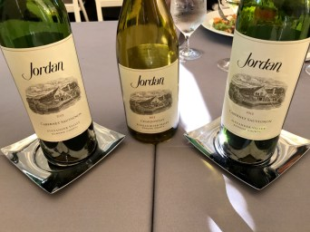 Jordan Chardonnay and Cabernet