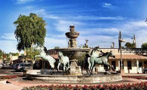 Bob Parks horse fountain
