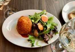 Crab and scallop arancino