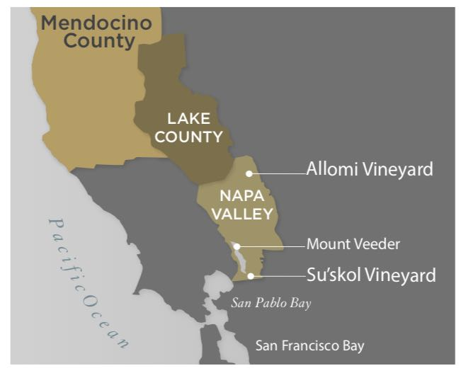 Hess Collection Vineyard Map