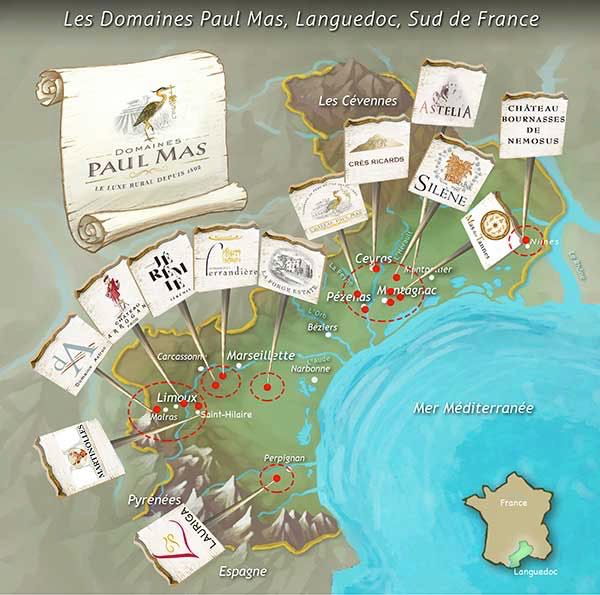 Domaines Paul Mas map
