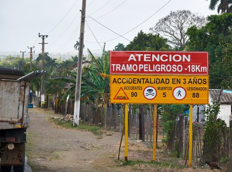 Road accident sign