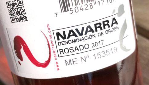 Back label Ochoa Calendas Garnacha Rosado