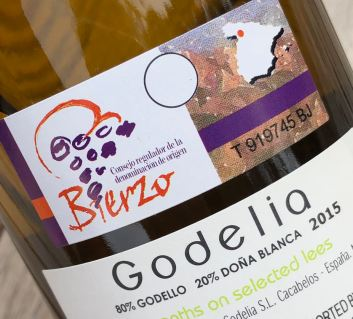 Godelia blanca back label