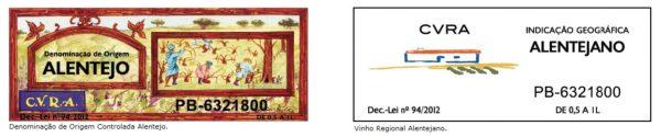Alentejo Wine Certification Labels