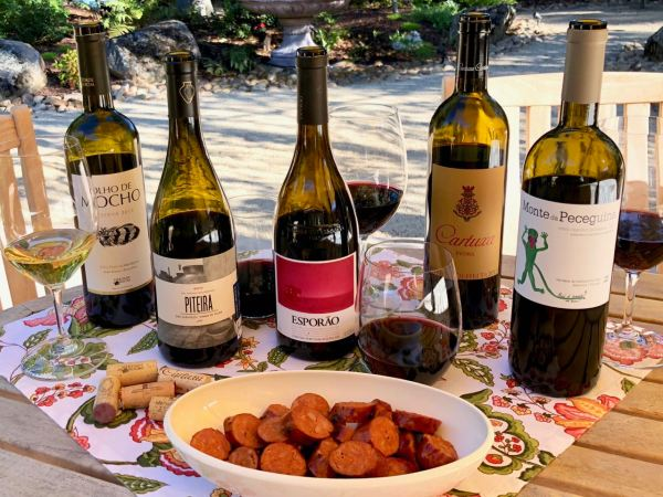 Alentejo wines with linguica