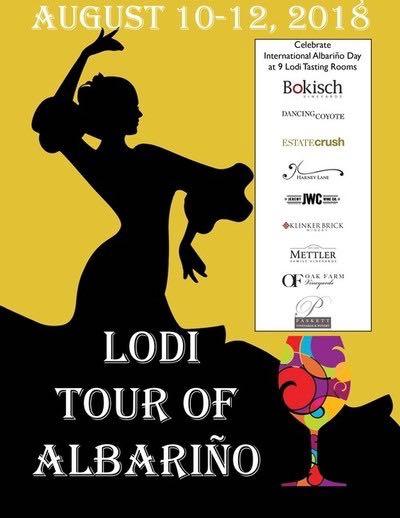 Lodi Tour of Albariño Graphic courtesy of Lodi Wines